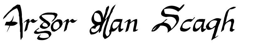 Argor Man Scaqh 字形