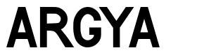 Argya font