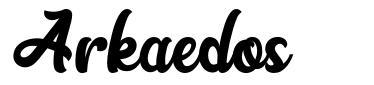 Arkaedos font