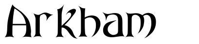 Arkham font
