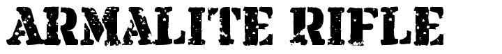 Armalite Rifle 字形
