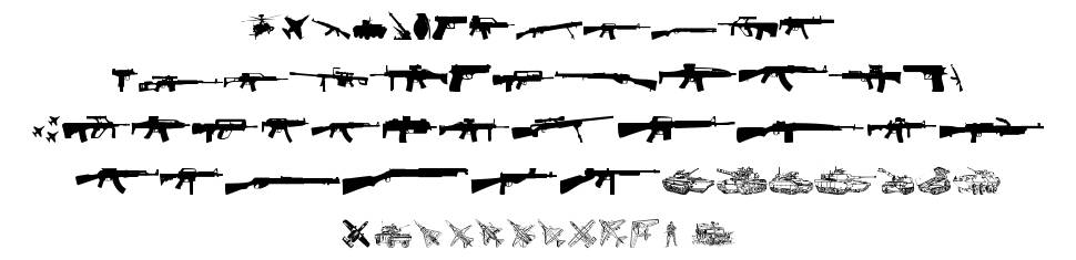 Army Weapons TFB font