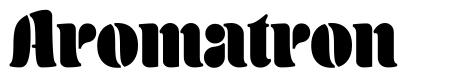 Aromatron font