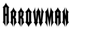 Arrowman font