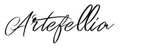 Artefellia font