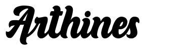 Arthines 字形