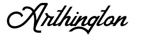 Arthington font