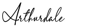 Arthurdale font