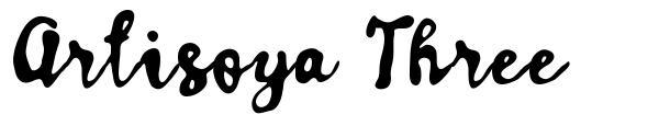 Artisoya Three font