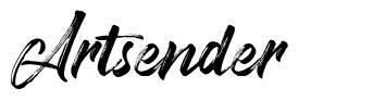 Artsender font