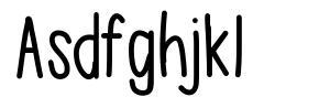 Asdfghjkl font