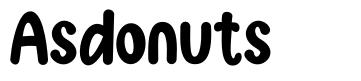 Asdonuts font