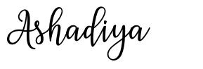 Ashadiya