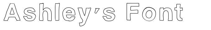 Ashley's Font font