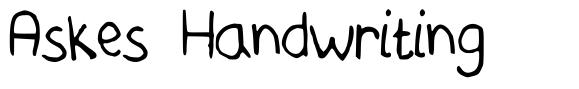 Askes Handwriting