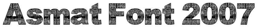 Asmat Font 2007 font