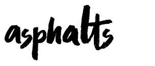 Asphalts font
