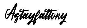 Astayfattony font
