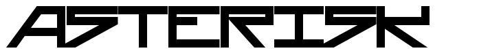 Asterisk font