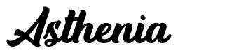 Asthenia font