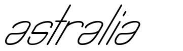 Astralia font