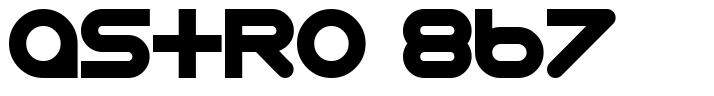 Astro 867 font