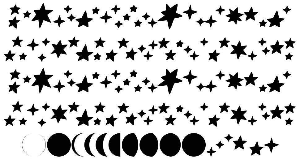 Astronomy font