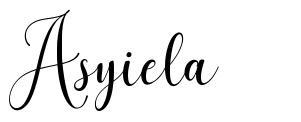 Asyiela шрифт
