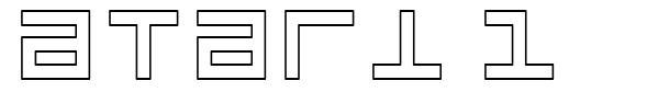 Atari 1 font