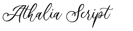 Athalia Script