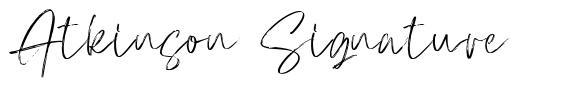 Atkinson Signature