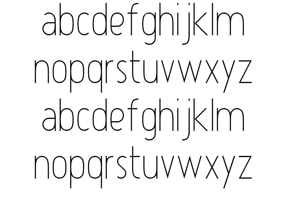 Atype 1 font