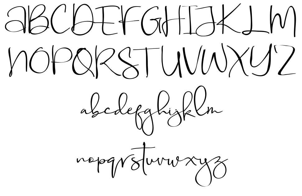 Aubrielle 字形