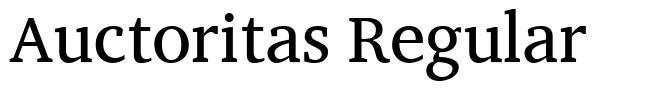 Auctoritas Regular font