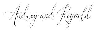 Audrey and Reynold font