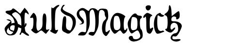 AuldMagick font