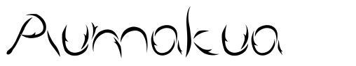 Aumakua шрифт
