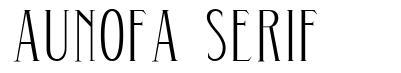 Aunofa Serif