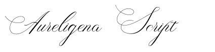 Aureligena Script font