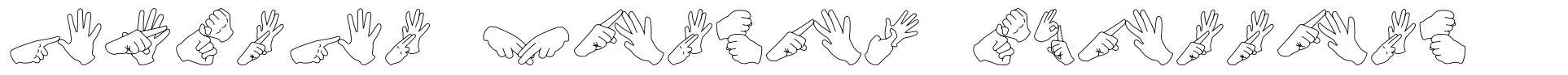 Auslan Finger Spelling font