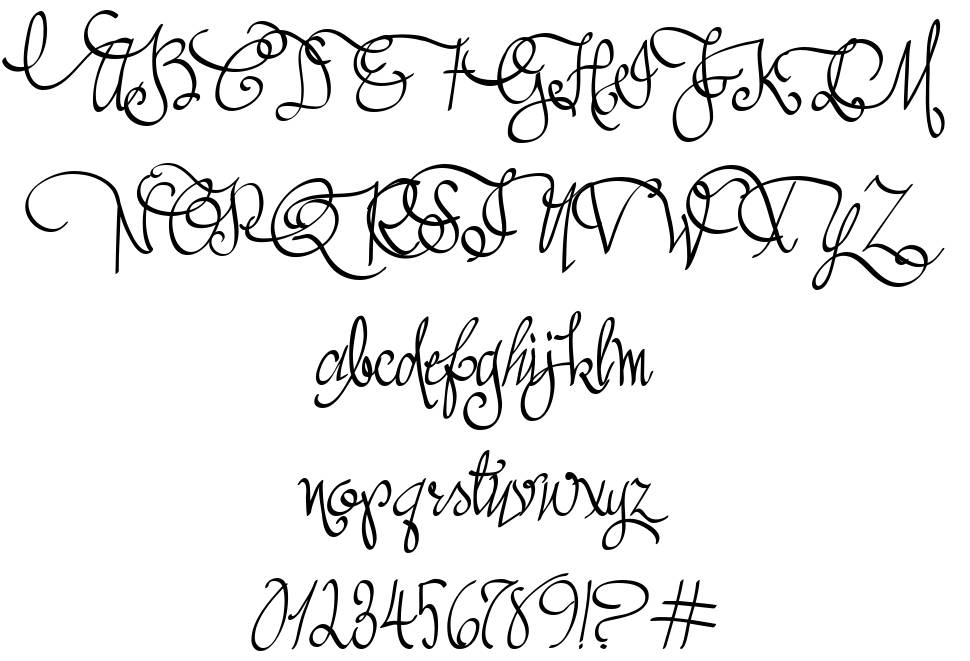 Austie Bost All My Love font