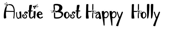 Austie Bost Happy Holly font