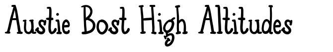 Austie Bost High Altitudes font
