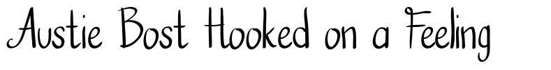 Austie Bost Hooked on a Feeling font