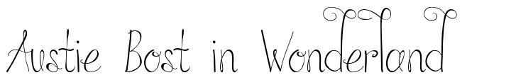 Austie Bost in Wonderland font
