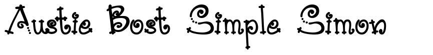 Austie Bost Simple Simon font