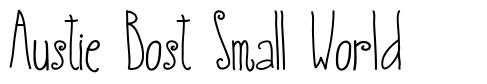 Austie Bost Small World font