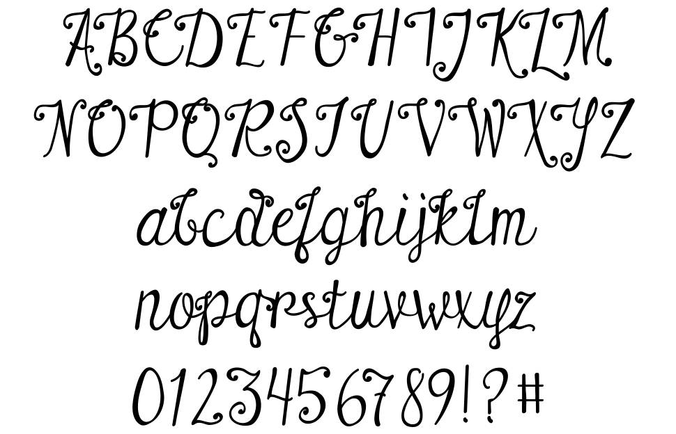 Austie Bost There For You font