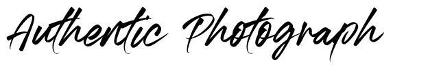 Authentic Photograph font