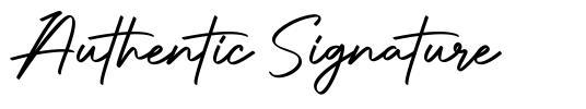 Authentic Signature